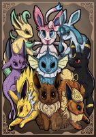 Eeveelution Print by Rachez