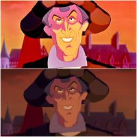 Frollo Animation Comparison (1990's standard/BD) by yami0815