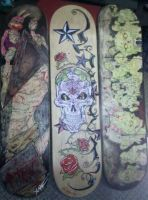 silent hill zombies Skateboard by ChrisOzFulton