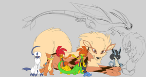 group picture { wip } - by wolfie-boo