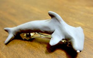 Hammerhead Shark hair clip by Adriellovesart