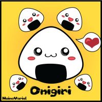 Kawaii Onigiri by HylianJess