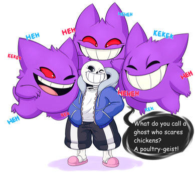 Sans And Gengars by kingnorman3