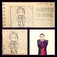 Kendall Schmidt - Confetti Falling [Draw] by CrayolaWasHere
