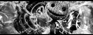 Little Big Planet BnW by MickeyMouse-ACE