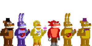 Fnaf 4 Styled Minigame Animatronics by Shaddow24