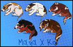 Maya X Koi Capo Trail Litter- Closed by PittMixx