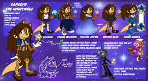 Carolyn the Nightwolf Reference Sheet 2014 by JovialNightz