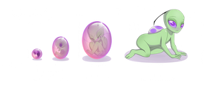 Irken Fetal Development by CitrusConstellation