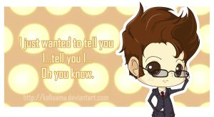 Doctor Who: I Just Wanted To Tell You Valentine by Kalisama