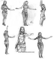 Belly dance live sketches by Robus2