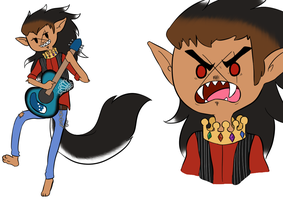 Adventure Time OC: Bec the Werewolf King by DNAzion