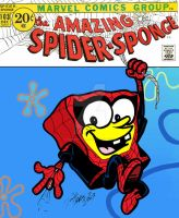 The Amazing Spider-Sponge by sugarrayfinhead