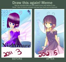 Draw this again! 11~12 violet by Mary-ko