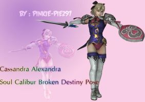 Cassandra Soul Calibur Broken Destiny Pose by Pinkie-Pie297