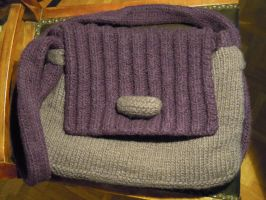 Knitted bag by Thyme-Sprite
