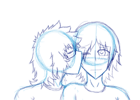:WIP: Neon and Sanji by NeonDarkfire65