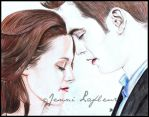 Breaking Dawn - Bella and Edward by JLafleurArt