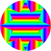 circle and octagram gradients by 10binary