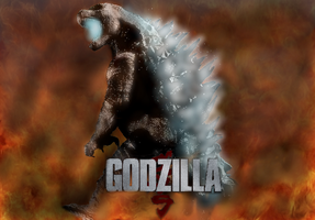 Godzilla 2014 wallpaper, Bow down to your King by TheSpiderAdventurer