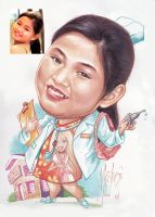 Caricature Commission 016 by MaeztroRonnel