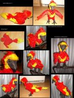 Fawkes, the pheonix goes plush by Fjanel