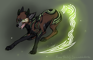 Earth Rune Tail AUCTION OPEN by animaldeathnote