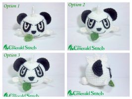 For sale! Pancham Poke Ball by TheEmeraldStitch