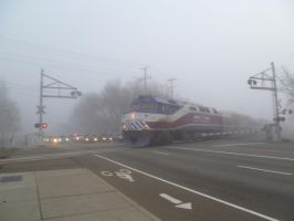 The F40PH of the Mist RM by BNSF