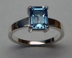 Sterling Blue Topaz Ring by Utinni