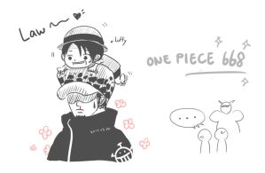 one piece 668 Law/Luffy by cloud0032000
