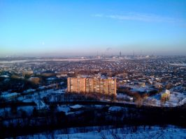 Gorlovka, view from the waste heaps [1] by FCSD