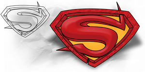Superman: Tattoo with Template by B-Rox-U