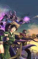 Akali, Kassadin, Graves- League of Legends Fan Art by xvortexbladex