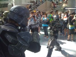 AX 2010 ODST vs War Machine by Mikiru-Atsuki
