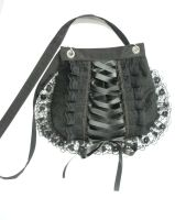Black velvet corset bag by Estylissimo
