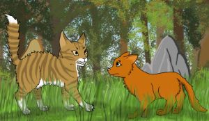 Art Trade: Leafpool and Squirrelflight by Animalible