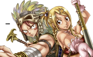 Natsu and Lucy Render - Fairy Tail by misscelles