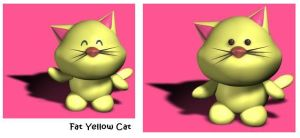Fat Yellow Cat-happy by Lucifer-Enterprises