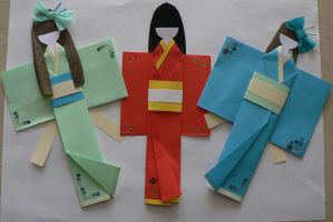 japanese paper dolls finish by GirlOfTheOcean