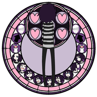 10 Faced Stained Glass by minieverfeel