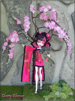 Cherry Blossom OOAK Fantasy Monster High doll by KrisKreations