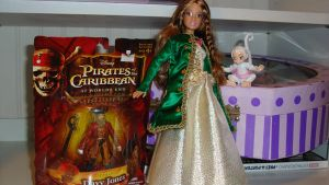Green Satin Pirate Barbie coat by Selinelle