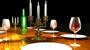 Dining Table 3D by Natnie