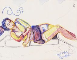 Life Drawing April 23 09 004 by eruanna