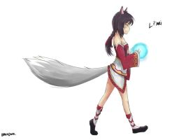 Lil' Ahri by BakaDuck