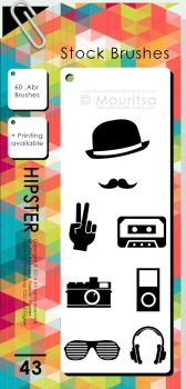 Brush Pack - Hipster by MouritsaDA-Stock