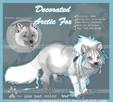 Decorated Fox Adoptable [claimed] by Seasonfluff