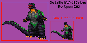 Sprite Edit - Godzilla EVA-01 by SpaceG92