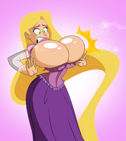 Commission: Rapunzel's New Magic Ability by grimphantom